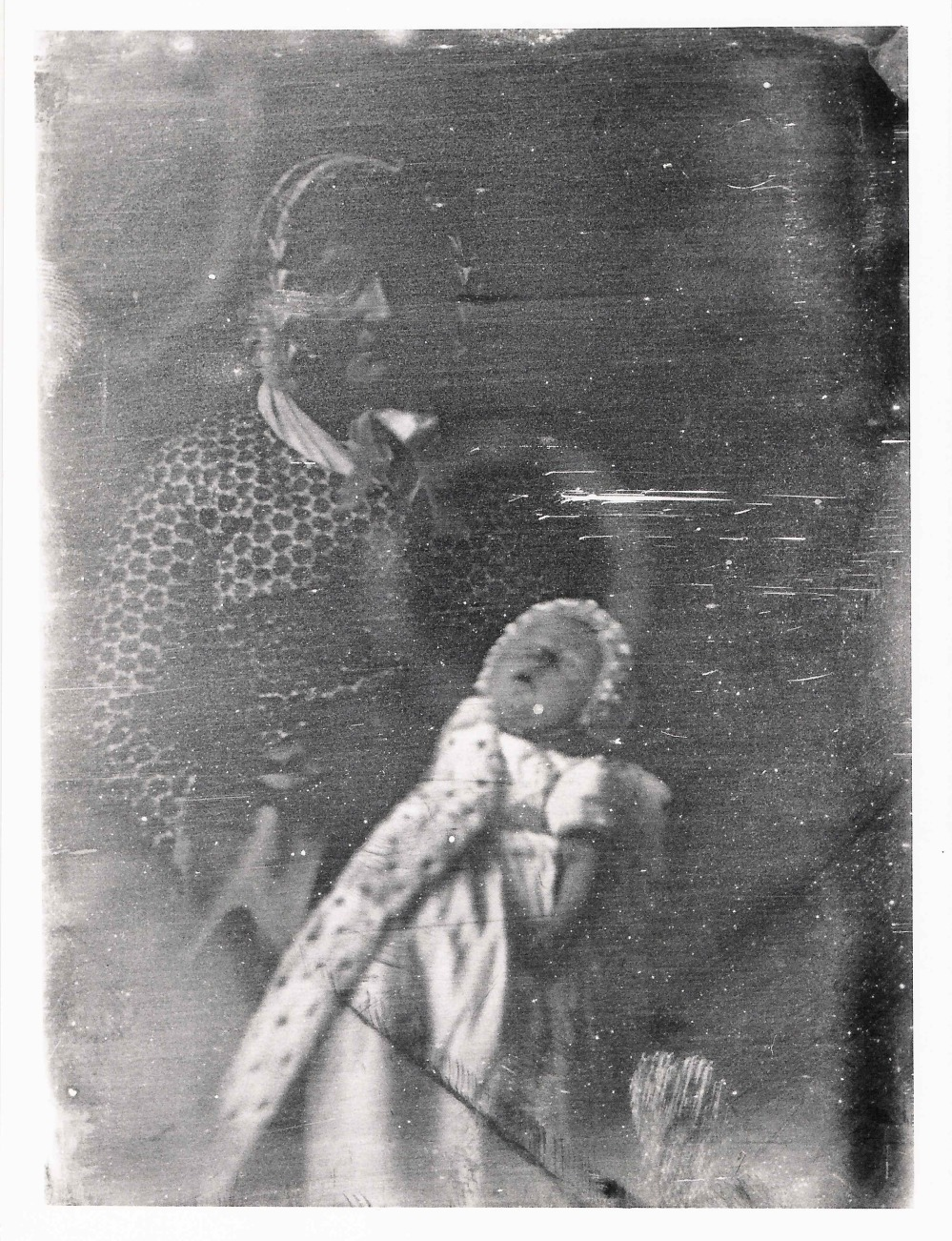 preview image for Photograph (Daguerreotype) of a Woman Holding a Sleeping Baby, its Face and Arm Visible, by Hugh Lee Pattinson, c.1845