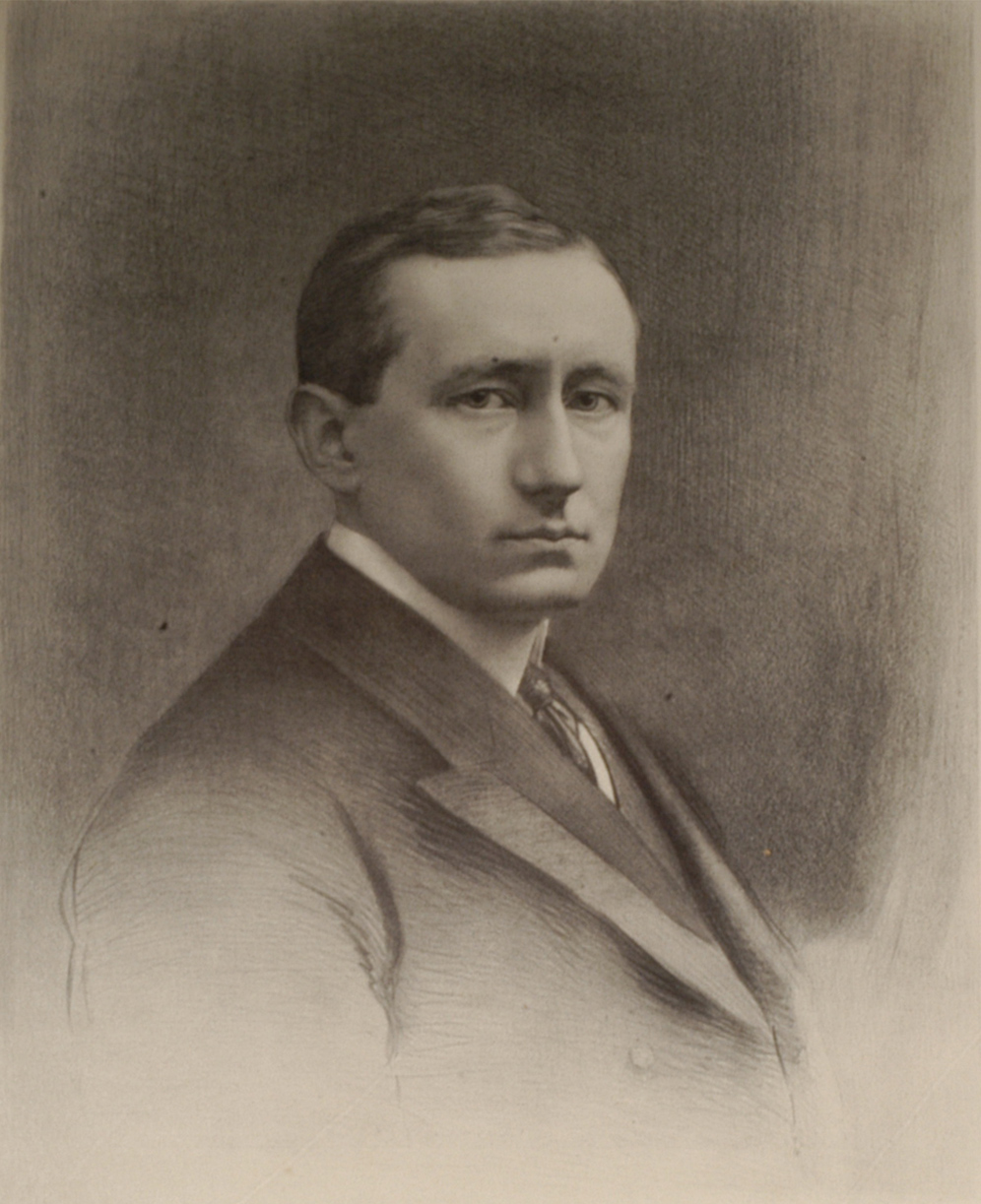preview image for Proof Print (?Lithograph) of a Portrait of Guglielmo Marconi, by G. B. Black, London, c. 1914