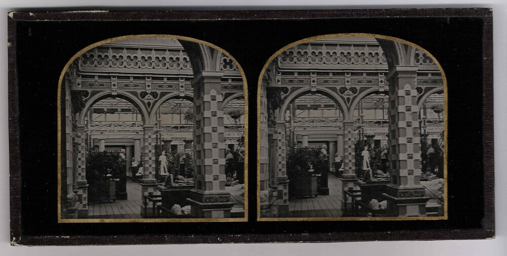 preview image for Stereoscopic Photograph (Collodion Positive on Glass) of the Elizabethan Court at the Crystal Palace, Sydenham, by Carpenter & Westley, c.1860