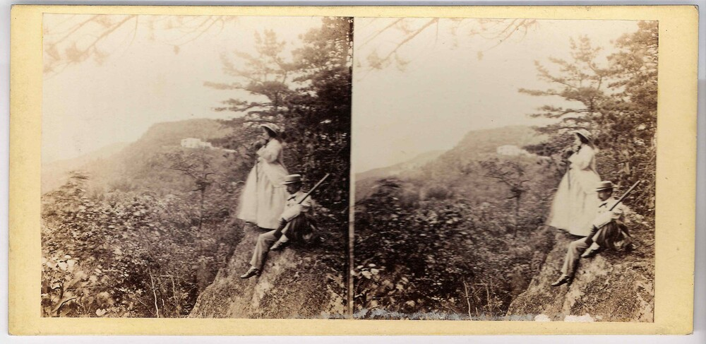 preview image for Stereoscopic Photograph (Albumen Print) of a View in the Catskills, by Edward Anthony, New York, 1860s