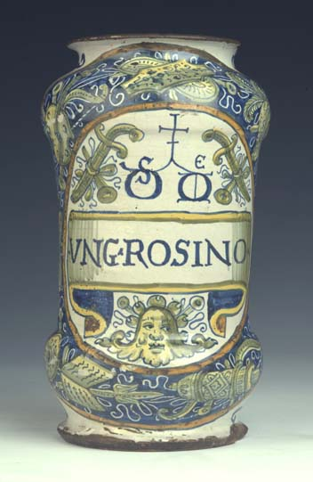 preview image for Albarello Drug Jar, Castel Durante, Mid-16th Century