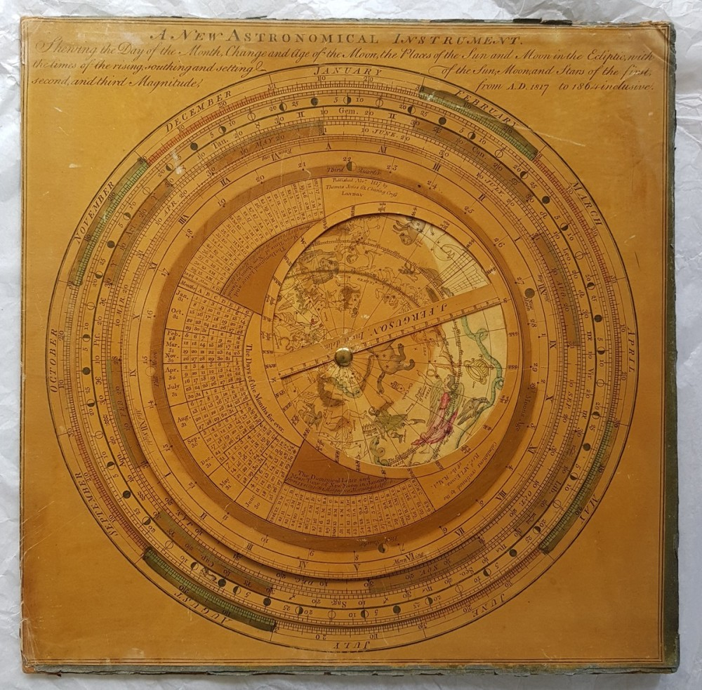 preview image for Astronomical and Calendrical Volvelle or 'New Astronomical Instrument', Designed by James Ferguson, Adapted and Reissued by Lewis Evans and Thomas Jones, London, 1817
