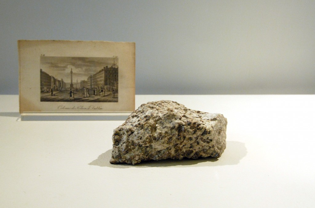 A piece of granite, formerly part of Nelson's Pillar, Dublin