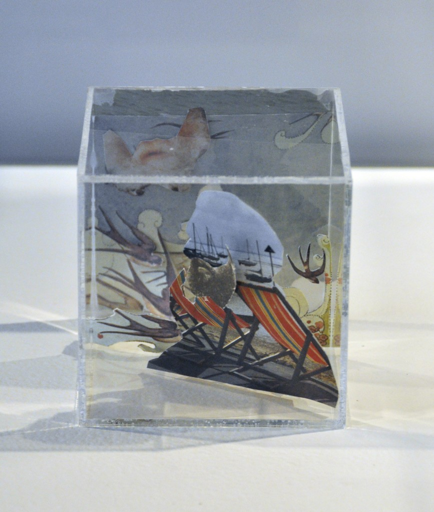 Box with Beards, mixed media, by Charlotte Allen