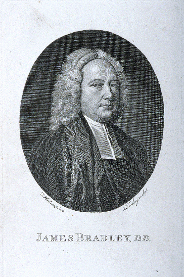 Engraving of James Bradley, by J. Tookey from a painting by J. Hudson