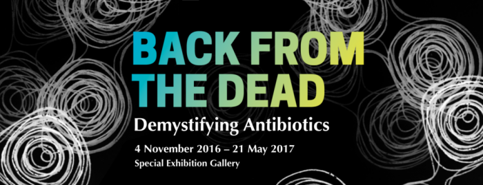 Back from the Dead: Demystifying Antibiotics - banner for the special exhibition