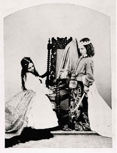 Photograph (Albumen Print) of Annie Rogers and Mary Jackson as Queen Eleanor and Fair Rosamund, by C. L. Dodgson (Lewis Carroll), July 3, 1863
