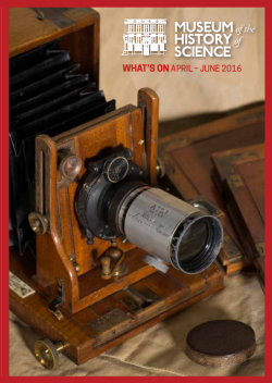Museum of the History of Science Prog Q2 2016 front page