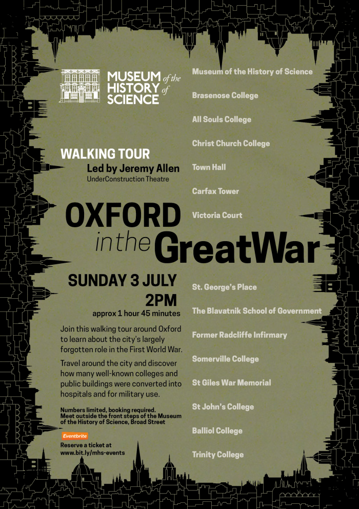 Oxford in the Great War Poster 3 July