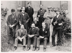 J. S. Haldane with members of the Oxford University Biological Club in 1898