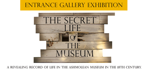 Secret Life of the Museum exhibition banner