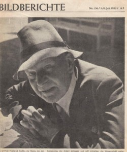 Frederick Soddy, pictured for an article in a German newspaper in 1952.