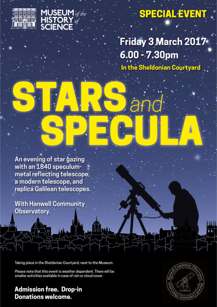 Poster to advertise Stars and Specula