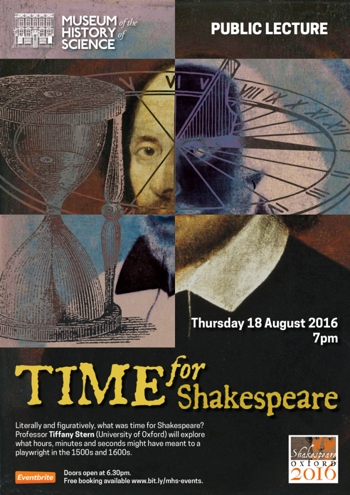 Time for Shakespeare Lecture Poster