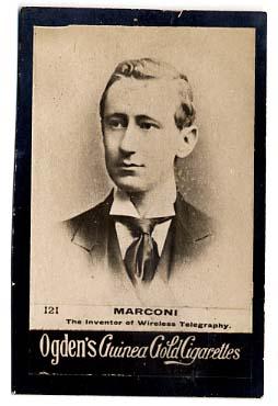 Cigarette Card, Guglielmo Marconi, 1901