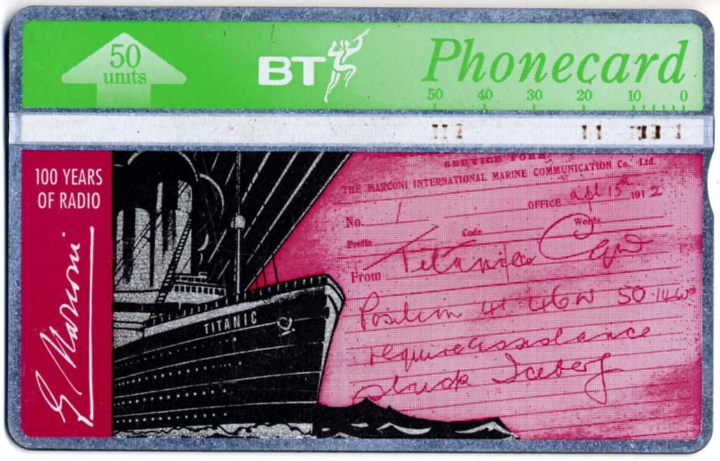 BT 'Titanic' Phone Card, c.1995