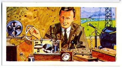 Tea Card, Guglielmo Marconi, 1975