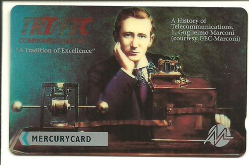 Phone Card, Guglielmo Marconi, late 20th century