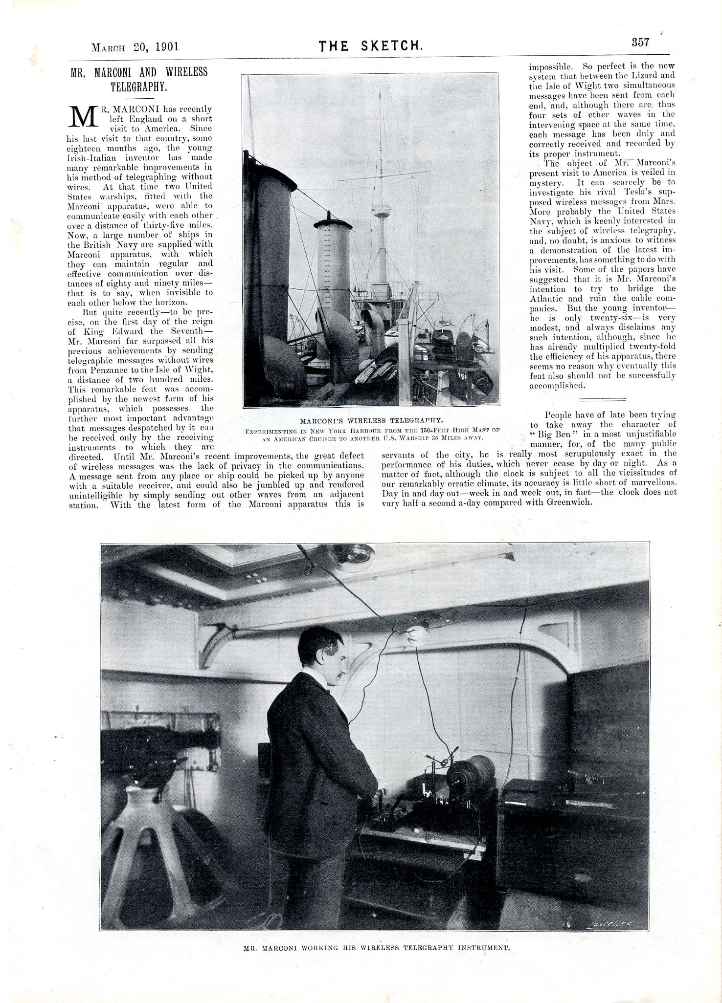 Illustrated Article from The Sketch, March 1901