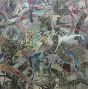 Painting with collage, Christopher Parkin (2004)