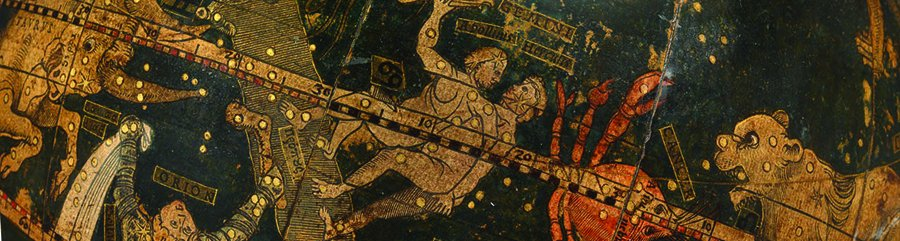 Renaissance in Astronomy: banner image showing detail from celestial globe by Johann Schöner, c.1534
