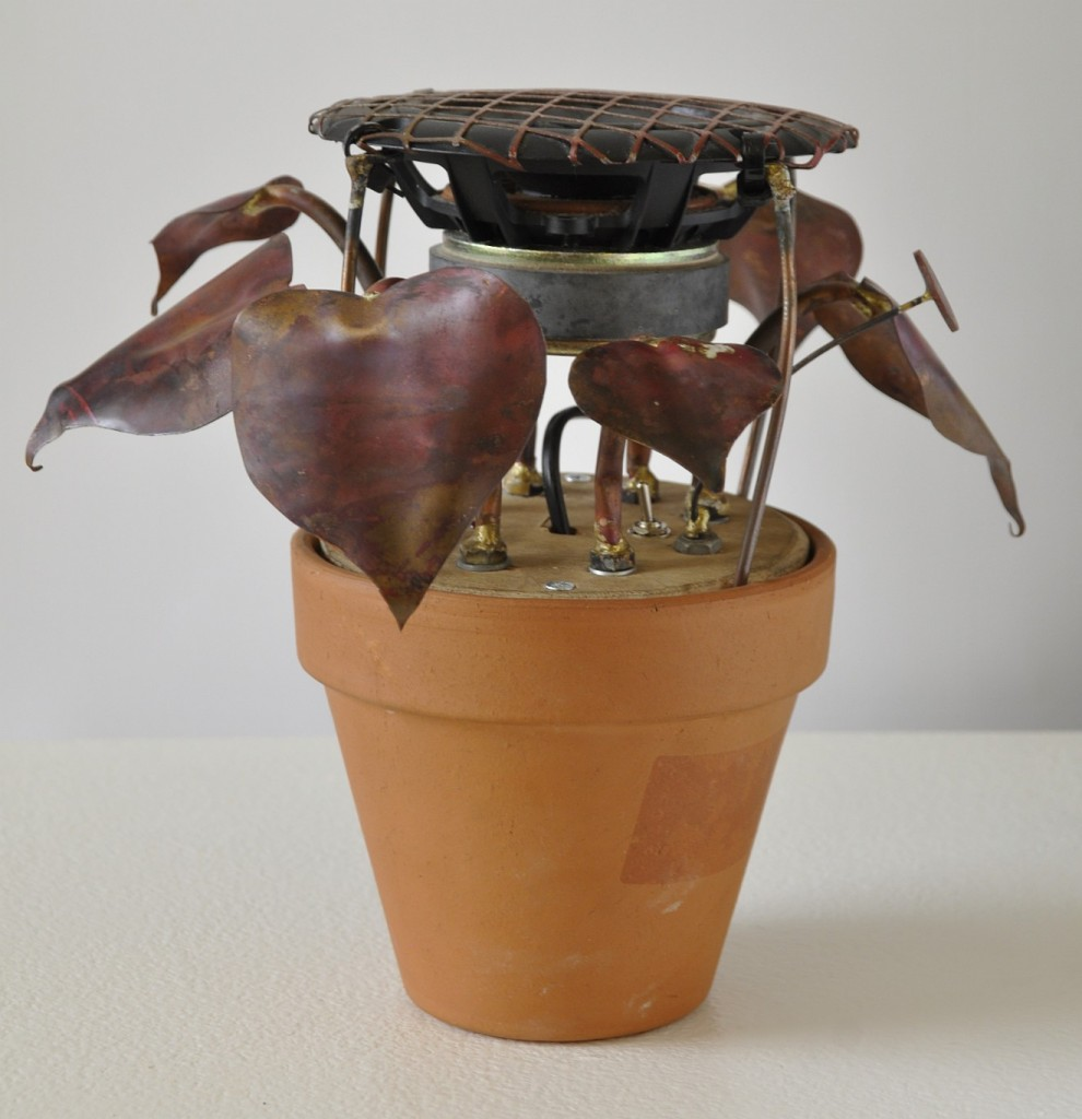 Crackleplant, mixed media, by Mike Blow, 2011