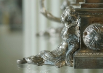 Inv Num 35086 before cherub D in situ in display case 1