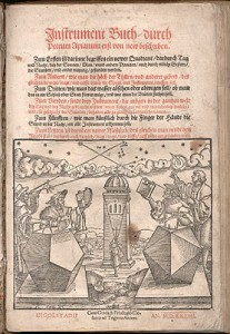 Peter Apian, Instrument buch (Ingolstadt, 1533), title page.