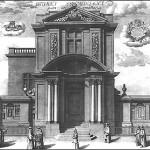 Engraving of the East Front of the Museum by Michael Burghers, 1685