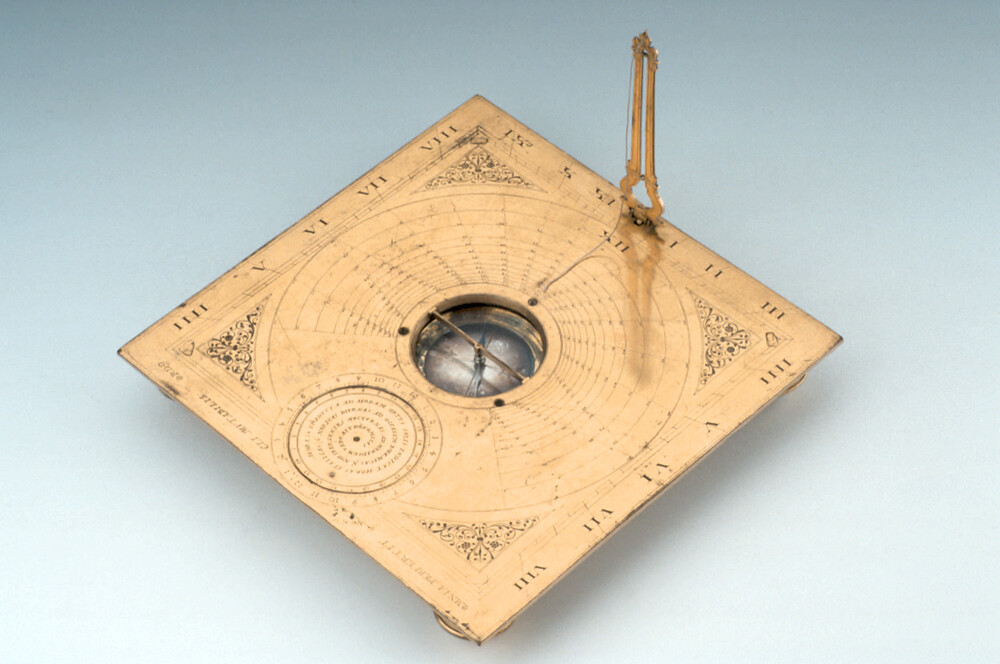 preview image for Horizontal String-Gnomon Dial, by Erasmus Habermel, Prague?, Late 16th Century