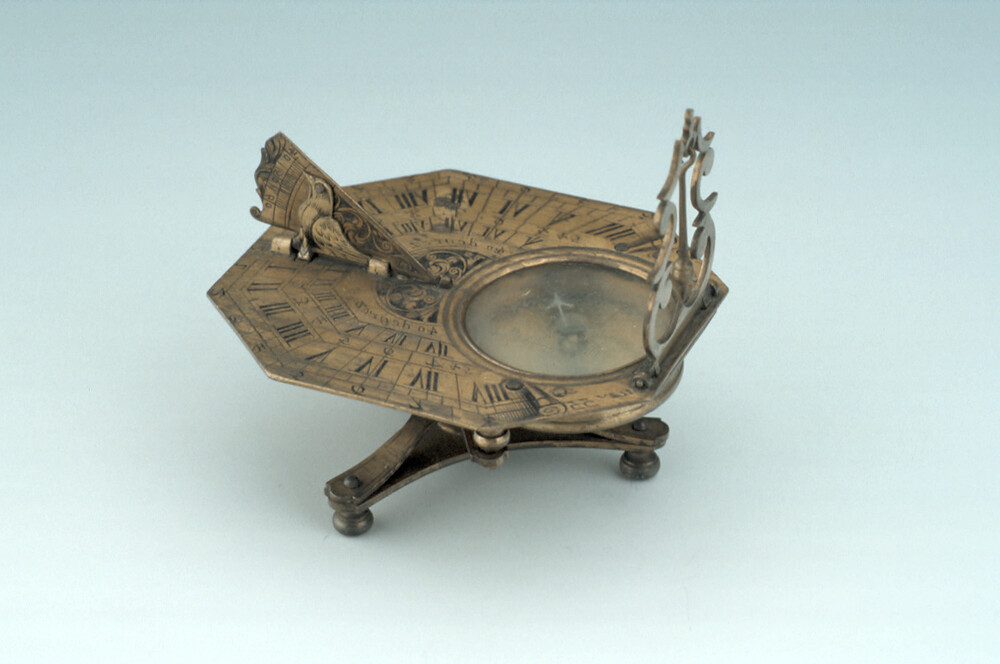 preview image for Butterfield-Type Horizontal Dial on Stand, by Nicolas Bion, Paris, c. 1700