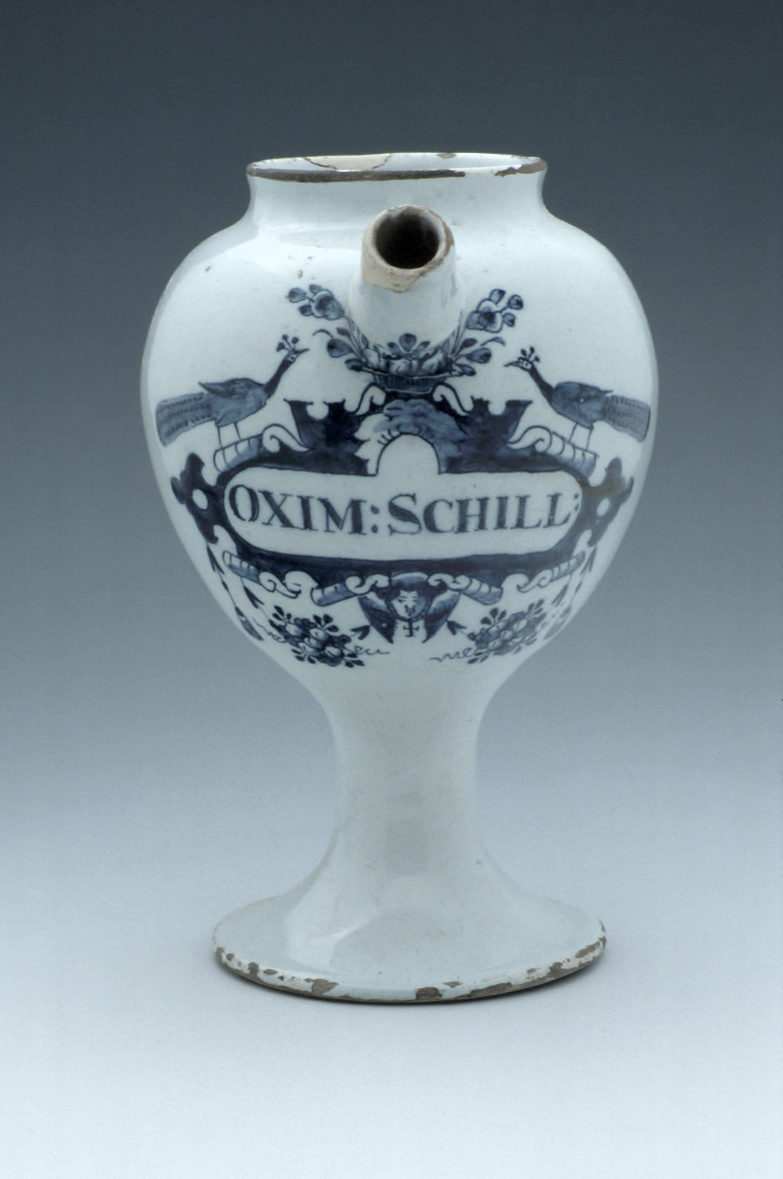 preview image for Syrup Jar, by Johannes Pennis?, Delft?,  c. 1680-1730