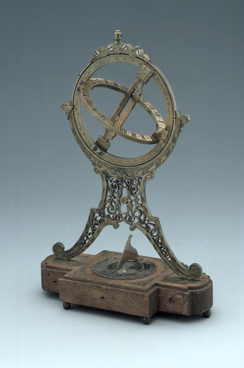 preview image for Equinoctial Ring Dial, with Horizontal Compass Dial, by I. Brauchle, Munich, 18th Century