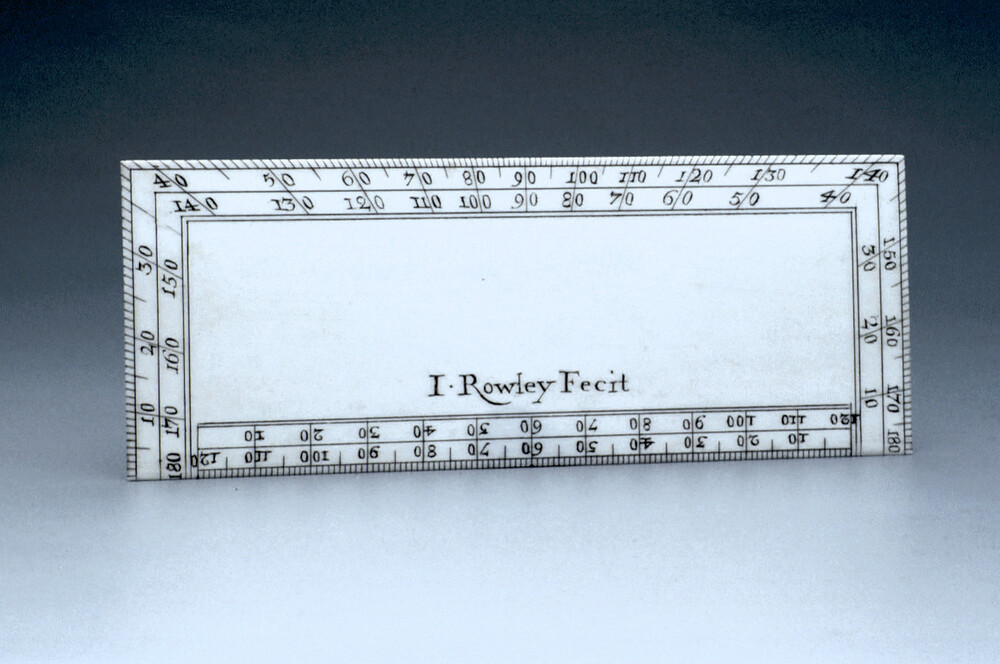 preview image for Rectangular Protractor, by John Rowley, London, c. 1700