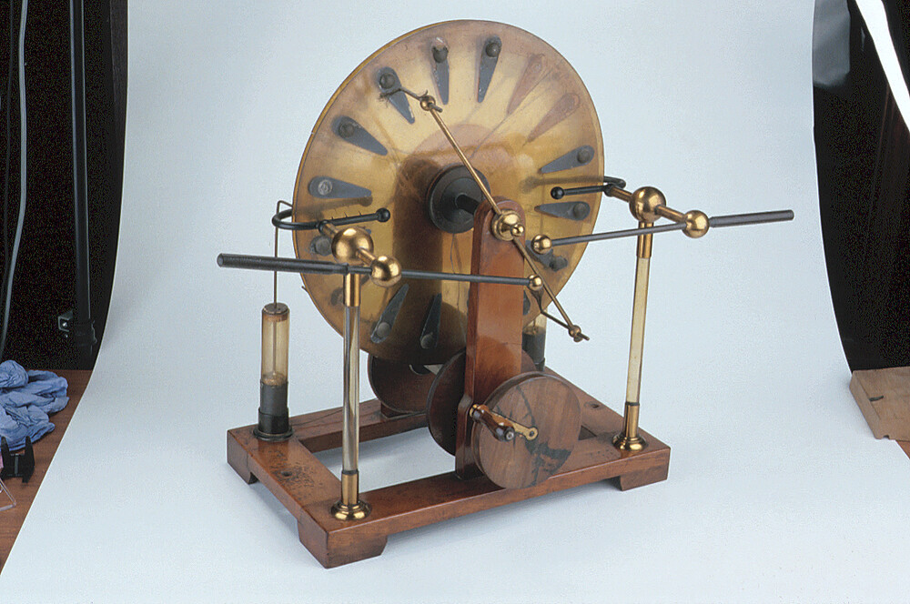 preview image for Wimshurst Twin Plate Electrostatic Machine, by Harvey & Peak, London, 1898