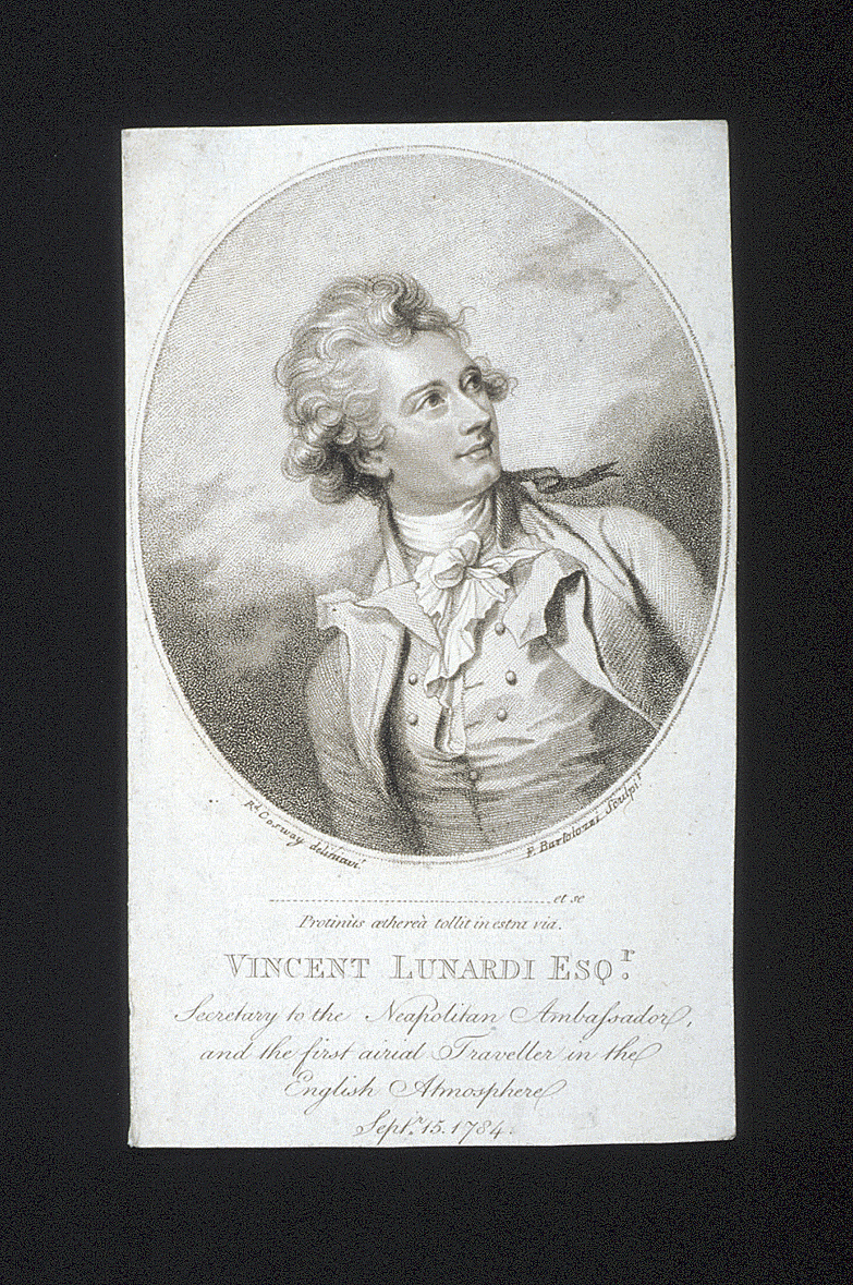 preview image for Print (Stipple Engraving) Vincent Lunardi, by R. Cosway, made by F. Bartolozzi, [Italy], 1784