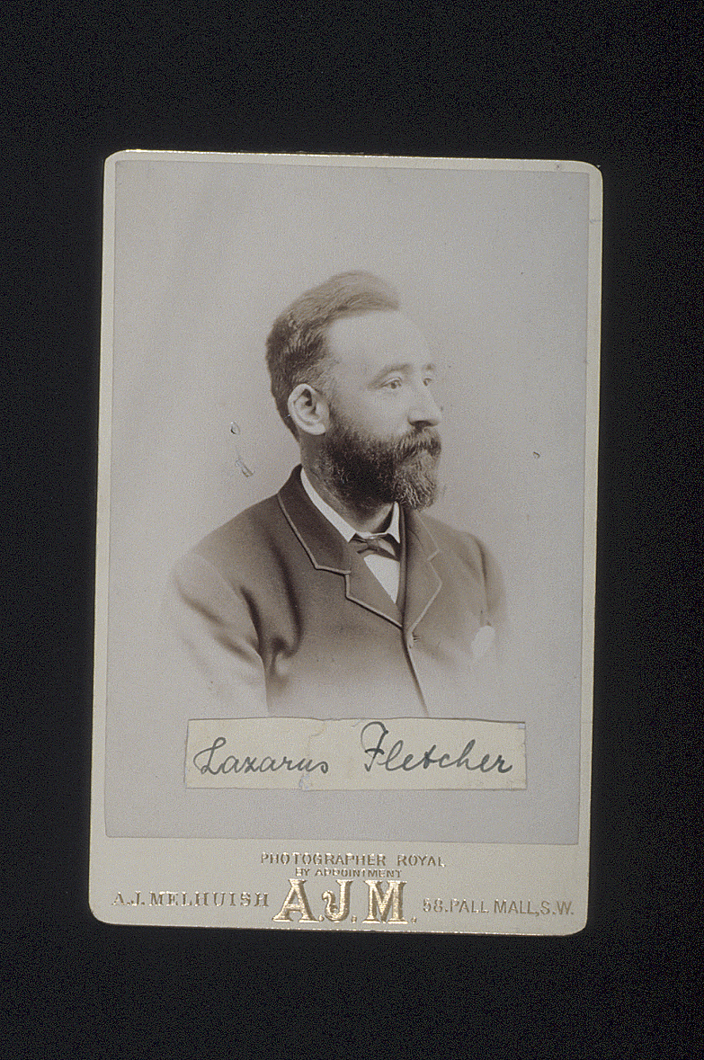 preview image for Photograph (?Early Gelatine Print, Cabinet Format) of Lazarus Fletcher, by A. J. Melhuish, London, 1891