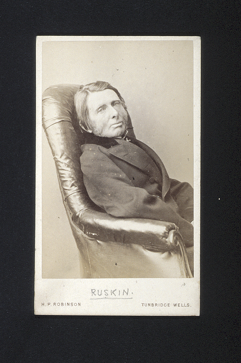 preview image for Photograph (Albumen Print, Carte de Visite) of John Ruskin, by C. L. Dodgson (Lewis Carroll), Printed and Published by Henry Peach Robinson, Tunbridge Wells, December 1878