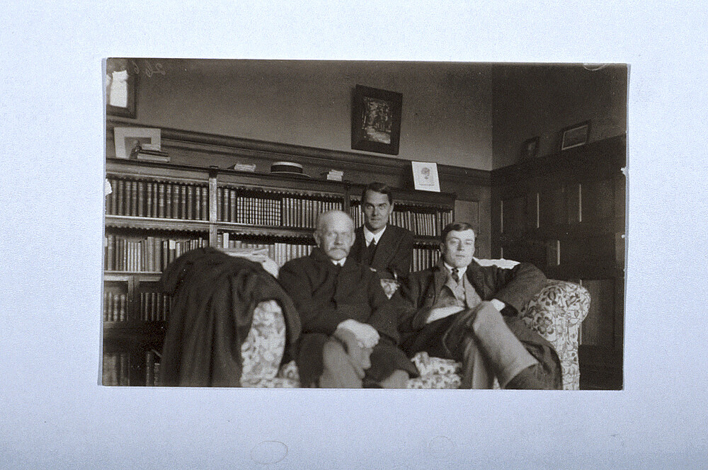 preview image for Photograph (Gelatine Print) of N. V. Sidgwick and Two Students in his Room at Oxford, ?c.1940