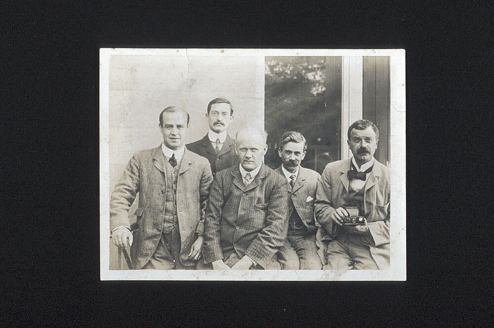 preview image for Photograph (Gelatine Print) of a Group of Oxford Chemists Including Lambert, Moore, Sidgwick, and Manley, c.1910