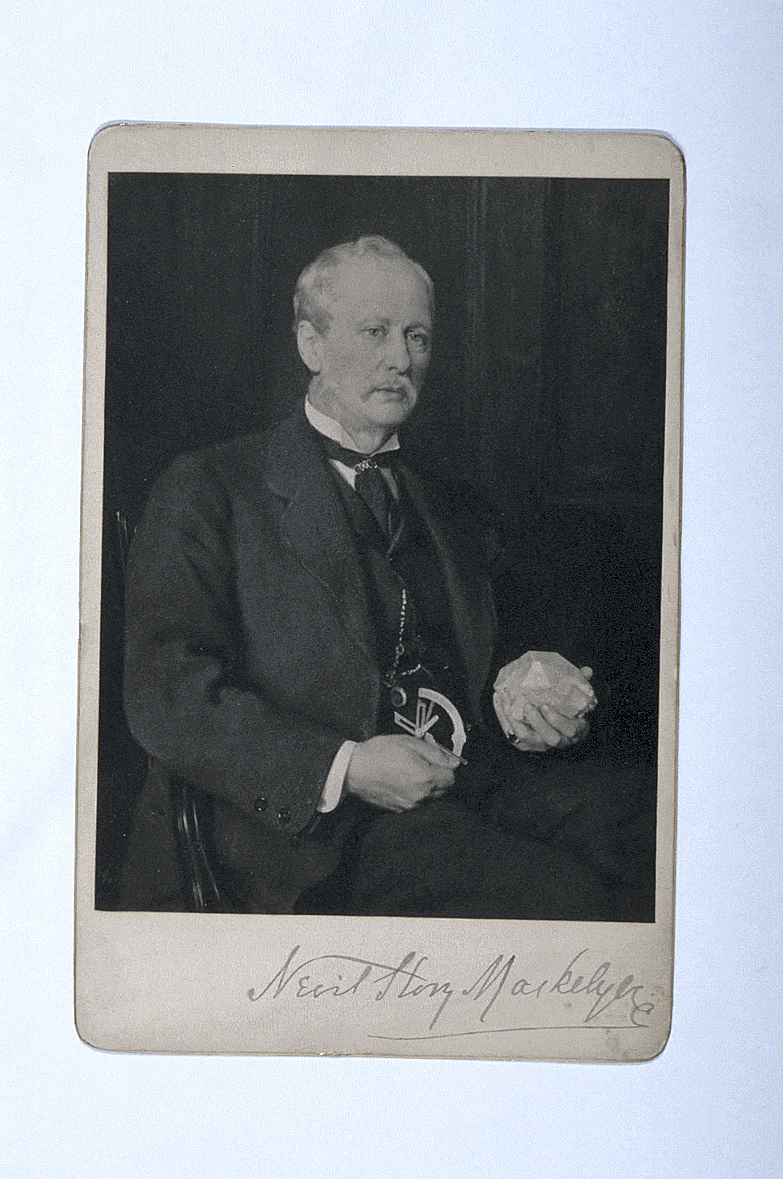 preview image for Photograph (Platinum Print, Cabinet Format) of John Collier's Portrait of Nevil Story Maskelyne, by Henry Dixon & Son, London, c.1895