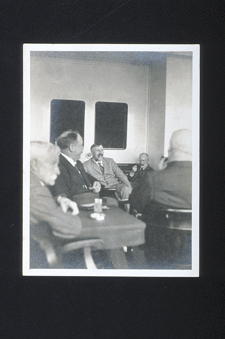 preview image for Photograph (Gelatine Print) of Ernest Rutherford and Others on Board Ship to Australia, by N. V. Sidgwick, 1914