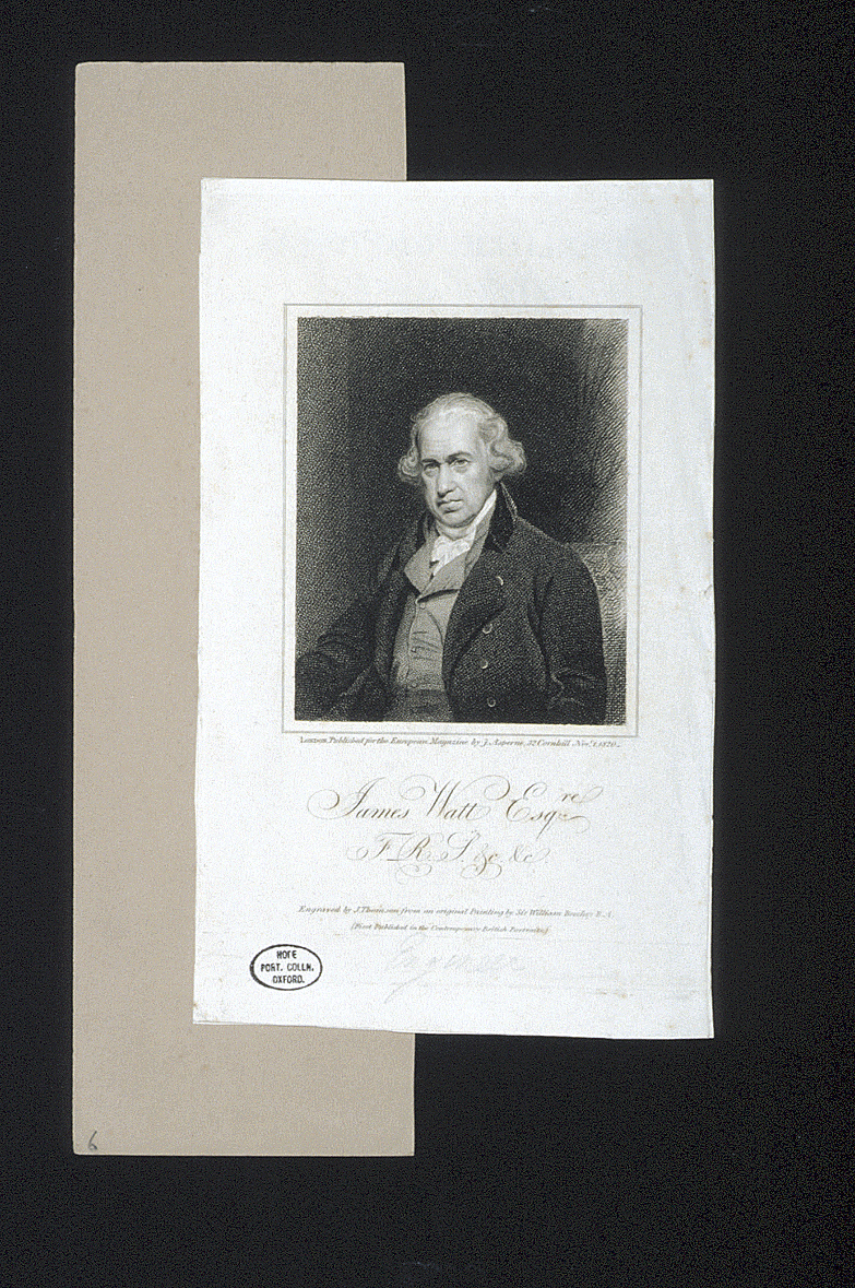 preview image for Print (Stipple Engraving) James Watt, engraved by J. Thomson after Sir William Beechey, R.A., published by J. Asperne, 32 Cornhill, London, 1 November 1820