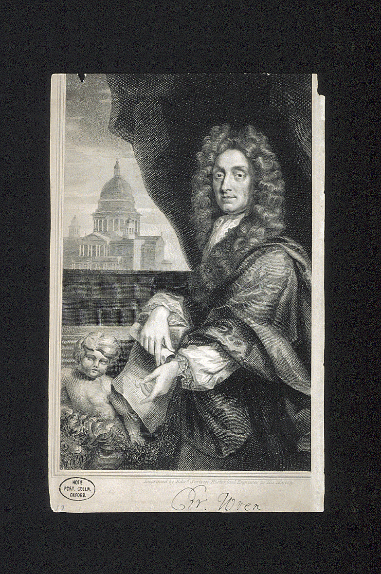 preview image for Print (Engraving) Christopher Wren, engraved by Edward Scriven, London, 18th Century