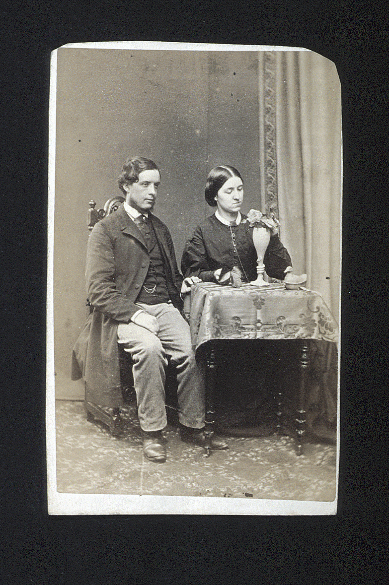 preview image for Photograph (Albumen Print, Carte de Visite) of J. B. Fox and Mrs Fox, by J. G. & E. Short, Lyndhurst, 1860s
