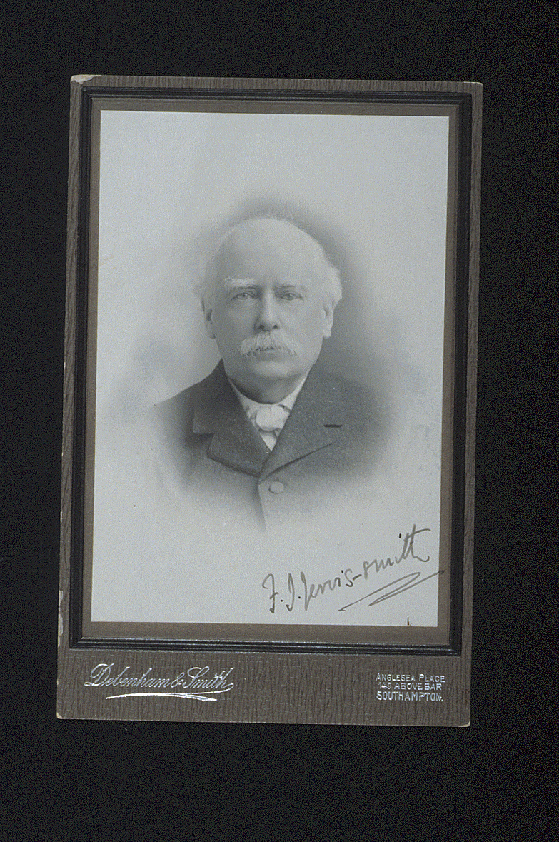 preview image for Photograph (Gelatine Print, Cabinet Format) of F. J. Jervis-Smith, by Debenham & Smith, Southampton, c.1910
