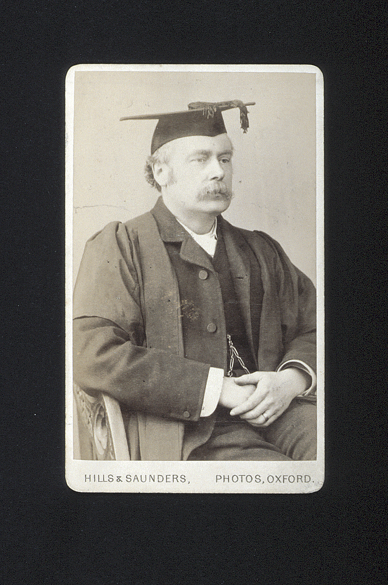 preview image for Photograph (Albumen Print, Carte de Visite) of F. J. Jervis-Smith in Academic Dress, by Hills & Saunders, Oxford, Probably 1885