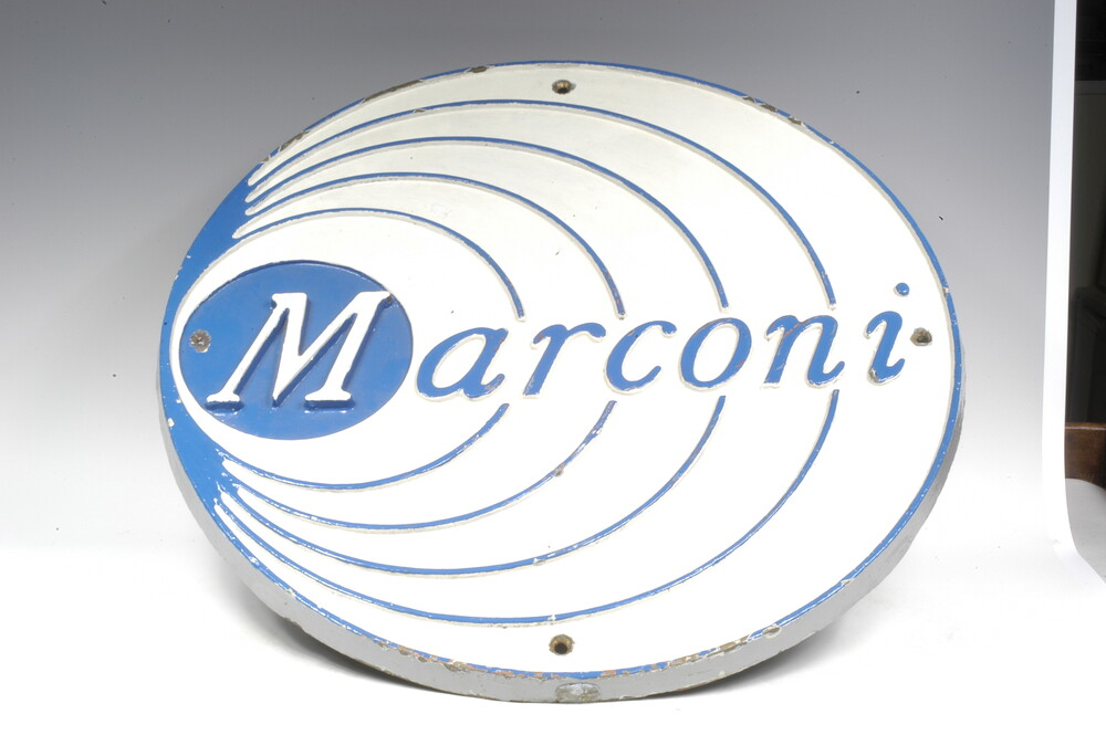preview image for Marconi Emblem Plaque, by Marconi Company, English, 20th Century