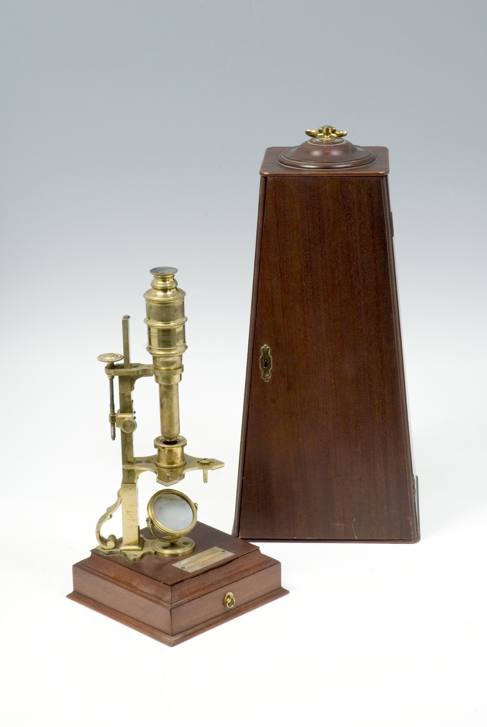 preview image for Cuff-Type Microscope with Screw-Barrel Microscope and Accessories, by George Adams, London, Mid 18th Century