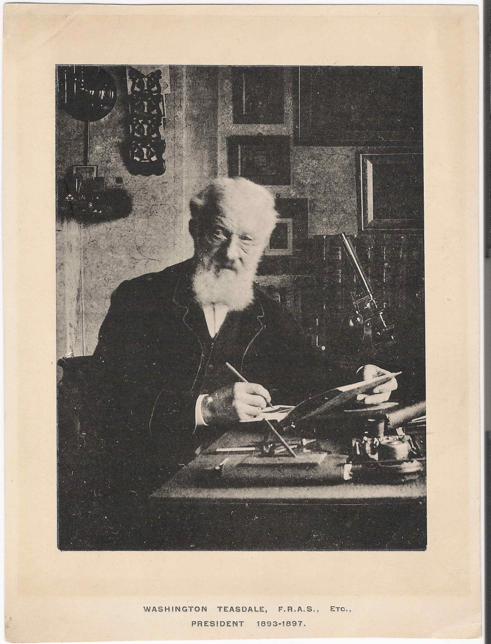 preview image for Print (Collotype, from a Photograph) of Washington Teasdale at his Desk, c.1897
